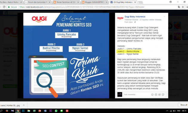 Juara 2 Kontes SEO Ougi Indonesia